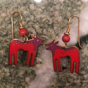 """Laurel Burch """"Wild Dog"""" Earrings"""